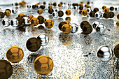 Silver and Gold Nanoparticles, illustration