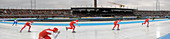 Speed skating, composite image