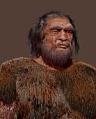 Prehistoric modern human, illustration