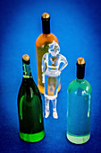 Concept of woman's alcoholism