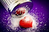 Conceptual image of excess salt