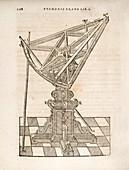 Tycho Brahe's triangular sextant, 1582
