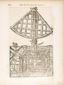 Tycho Brahe's revolving wooden quadrant, 1586