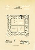 Monopoly-precursor board game patent, 1904
