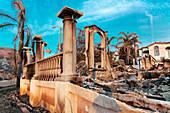 Damage from 2018 Thomas Fire, Ventura, California, USA