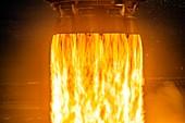 Falcon 9 rocket first stage engine burn