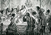 Chinese dining in Macau, 1860s