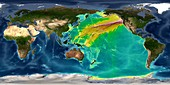 Tsunami from 1700 Cascadia earthquake, computer model