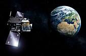 MTG-S satellite and Sentinel-4 mission, illustration