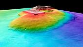 Tharsis Tholis volcano, Mars Express image