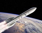 Ariane 6 rocket launch, illustration