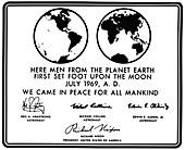 Apollo 11 Moon plaque, 1969