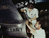 WWII, Female Riveter, Naval Air Base, 1942