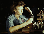 WWII, Female Worker, Naval Air Base, 1942