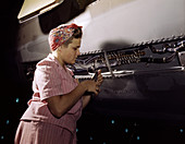 WWII, Female Worker, Airplane Factory, 1942