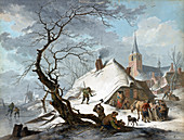 Winter Scene, Little Ice Age, 1787