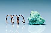 Copper metal and copper ore