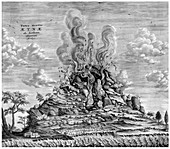 Athanasius Kircher, Mount Etna Eruption, 1637