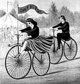 Velocipede Race, 1869