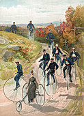 Penny-Farthings, High Wheeler Bicycles, 1887