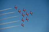 Royal Canadian Snowbirds flying in Concord formation