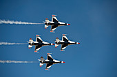 USAF Thunderbirds flying in the diamond opener formation