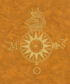 Theatrum Orbis Terrarum, Compass Rose, 1570