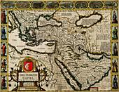John Speed, Turkish Empire Map, 1626