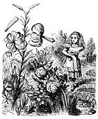 Alice In the Garden of Live Flowers