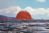 Lava Dome, Kilauea, 1969