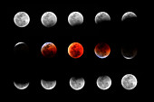 Total Lunar Eclipse series composite
