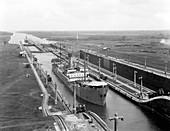 Gatun Lock, Panama Canal, c. 1915