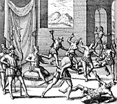 Massacre in the Great Temple, 1520