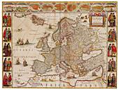 Joan Blaeu, Map of Europe, 17th Century