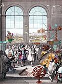 Louis XIV Visiting Royal Academy of Sciences, 1671