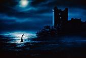 Loch Ness Monster at Night