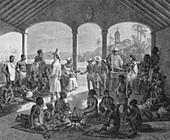 Rio de Janiero, Slave Market Auction, 1830