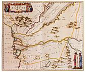 Joan Blaeu, Egypt Map, 17th Century