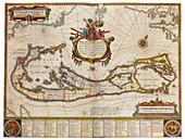 Joan Blaeu, Bermuda Map, 17th Century