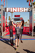 Winner of a triathlon track event in Huntington Beach, CA