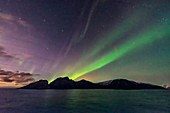 Aurora over island, Norway