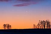 Venus and Jupiter in Close Conjunction