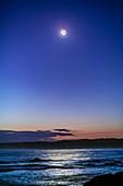 Waxing Crescent Moon at Cape Conran, Australia