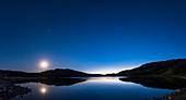 Deep Twilight at Reesor Lake, Alberta, Canada