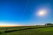 ISS and Iridium Pair at Dawn