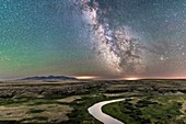 Milky Way over Canadian Prairie