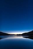 The Big Dipper in Deep Twilight over Reesor Lake, Canada