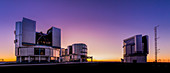VLT telescopes at twilight