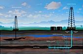 Artwork Depicting Fracking
