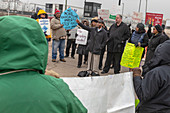Fracking waste protest, Detroit, USA